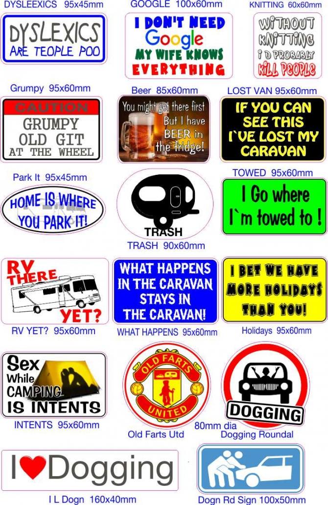 Camper And Caravan Stickers